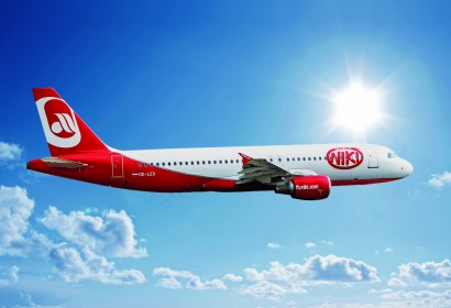 NIKI Airline am Himmel